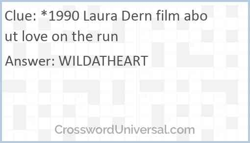 *1990 Laura Dern film about love on the run Answer