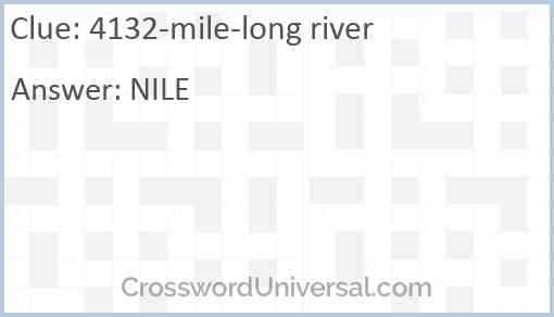 4132-mile-long river Answer
