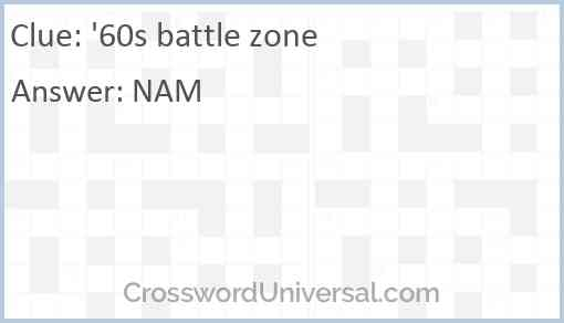 '60s battle zone Answer