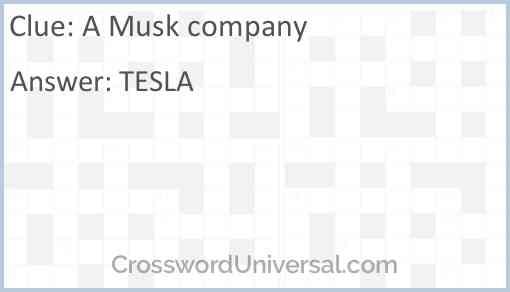 A Musk company Answer