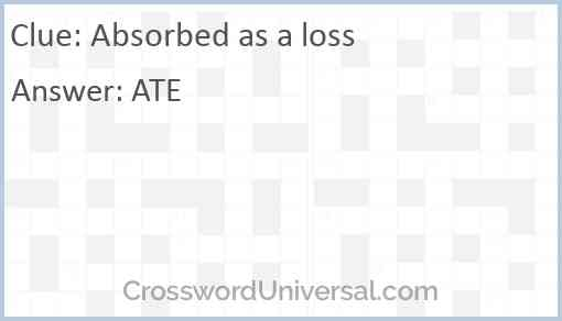 Absorbed as a loss Answer
