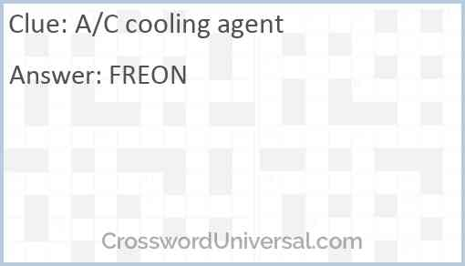 A/C cooling agent Answer