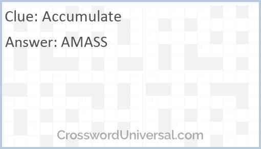 Accumulate Answer