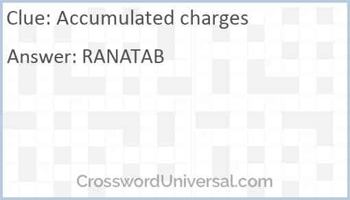 Accumulated charges Answer