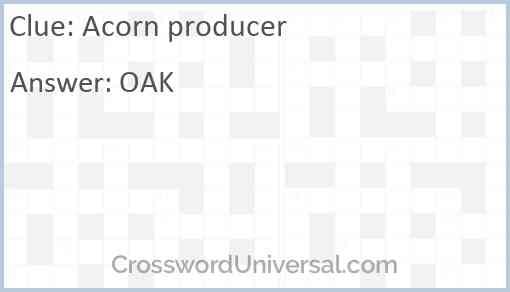 Acorn producer Answer