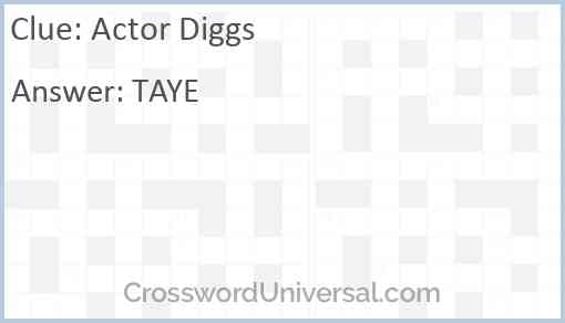 Actor Diggs Answer