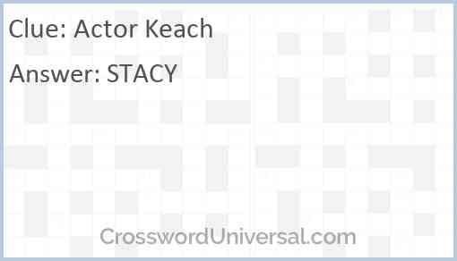 Actor Keach Answer