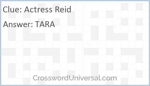 Actress Reid Answer
