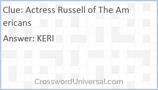 Actress Russell of The Americans Answer