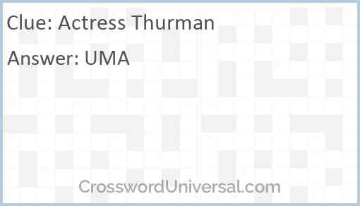 Actress Thurman Answer