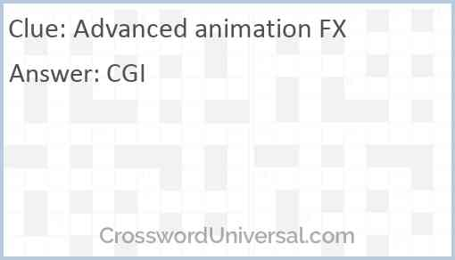 Advanced animation FX Answer