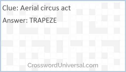 Aerial circus act Answer