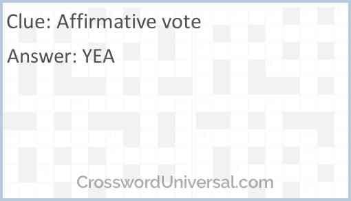 Affirmative vote Answer
