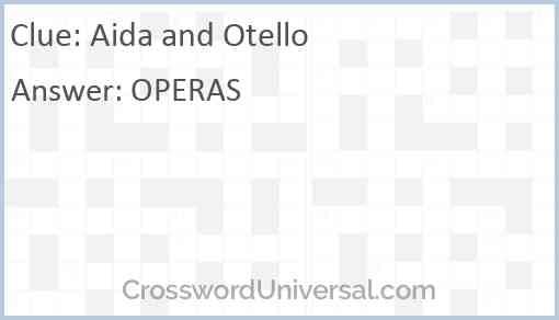 Aida and Otello Answer