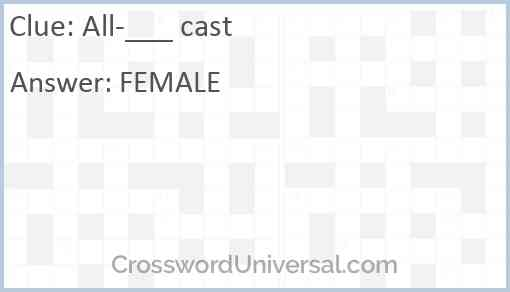 All-___ cast Answer