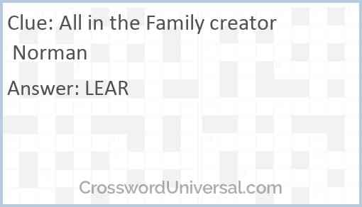 All in the Family creator Norman Answer