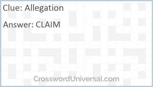 Allegation Answer