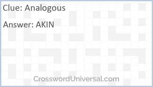 Analogous Answer