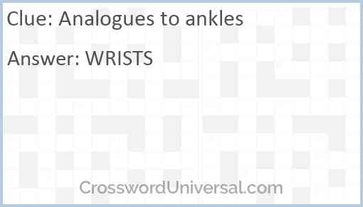 Analogues to ankles Answer