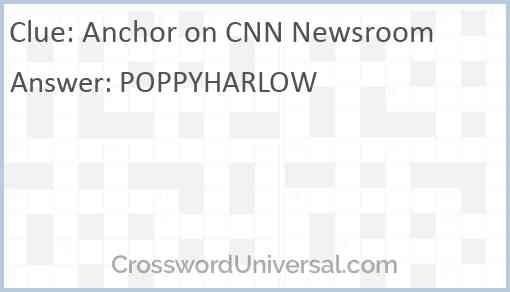 Anchor on CNN Newsroom Answer