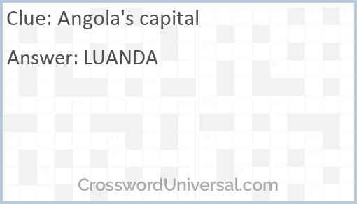 Angola's capital Answer