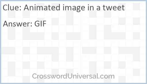 Animated image in a tweet Answer