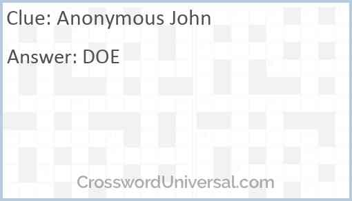 Anonymous John Answer