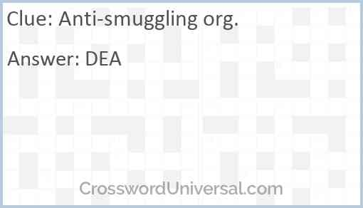 Anti-smuggling org. Answer