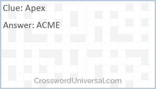 Apex Answer