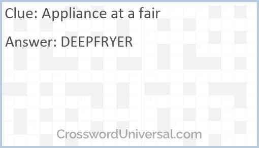 Appliance at a fair Answer
