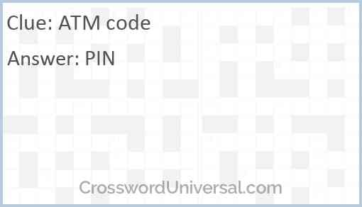 ATM code Answer