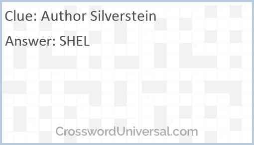 Author Silverstein Answer