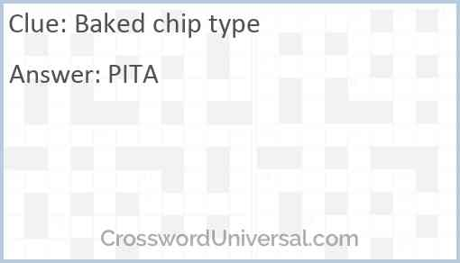 Baked chip type Answer