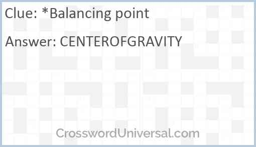 *Balancing point Answer