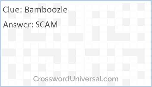 Bamboozle Answer