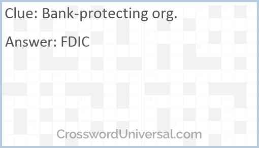 Bank-protecting org. Answer