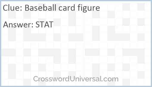 Baseball card figure Answer