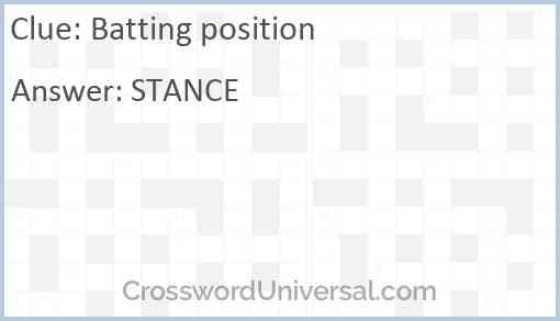 Batting position Answer