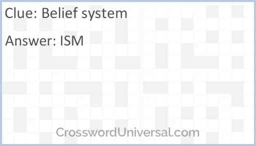 Belief system Answer