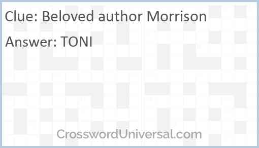 Beloved author Morrison Answer