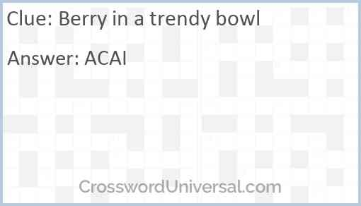Berry in a trendy bowl Answer