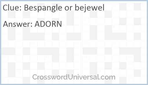 Bespangle or bejewel Answer