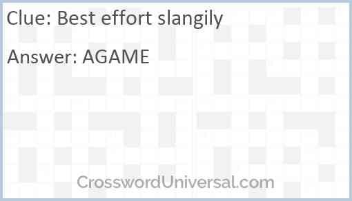 Best effort slangily Answer