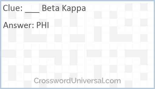 ___ Beta Kappa Answer