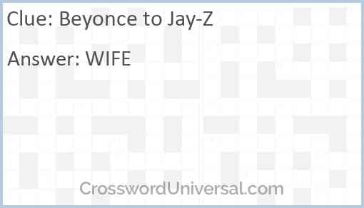 Beyonce to Jay-Z Answer