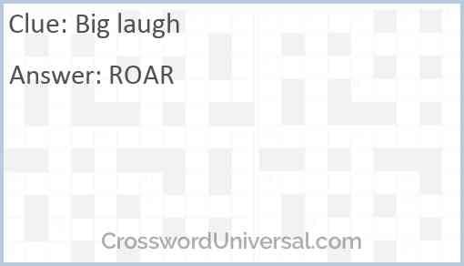 Big laugh Answer