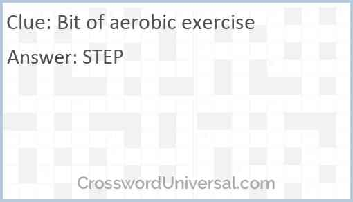 Bit of aerobic exercise Answer