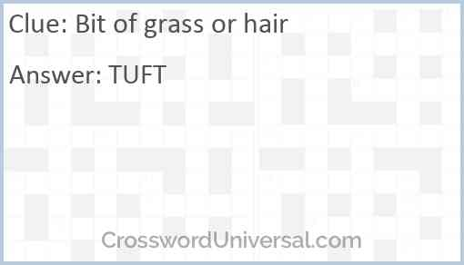 Bit of grass or hair Answer