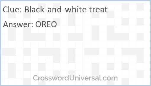 Black-and-white treat Answer