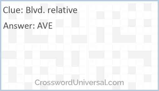 Blvd. relative Answer